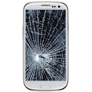 Cracked Smartphone display
