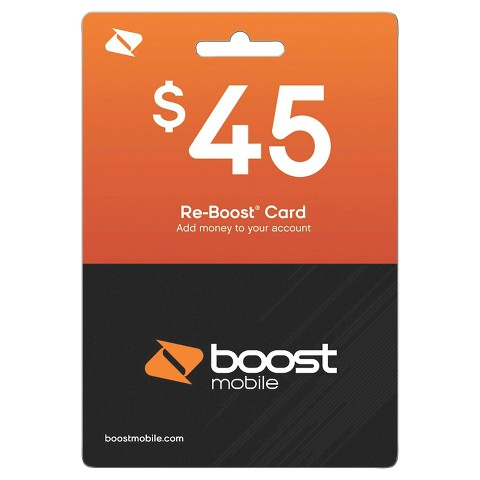 Boost Top Up Card