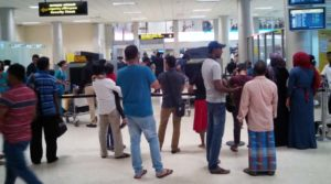 Tourist departure-colombo-checkin